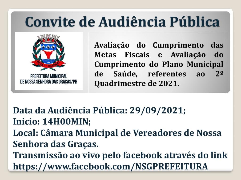 Convite de Audiência Pública