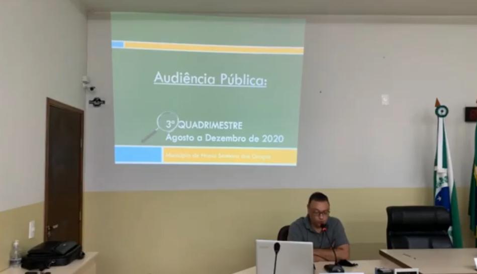 Prefeitura realiza audiência pública, prestação de contas do 3° quadrimestre de 2020