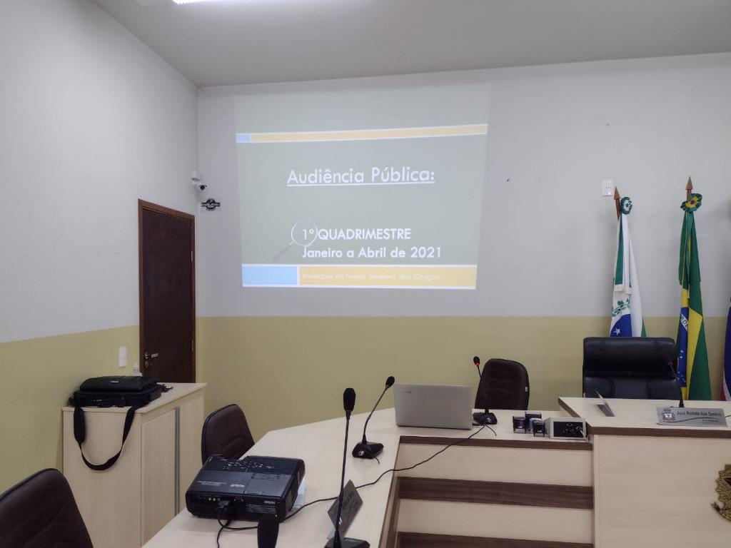PREFEITURA REALIZA AUDIÊNCIA PÚBLICA, PRESTAÇÃO DE CONTAS DO 1° QUADRIMESTRE DE 2021
